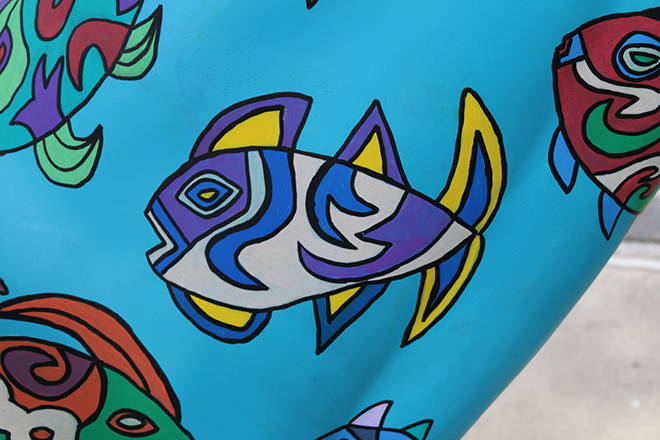 Tony Passero Horses of Honor Sea Horse Fish 1 Detail