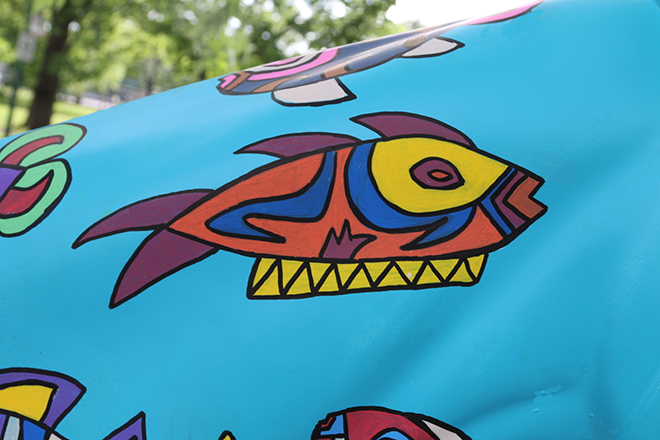 Tony Passero Horses of Honor Sea Horse Fish 2 Detail