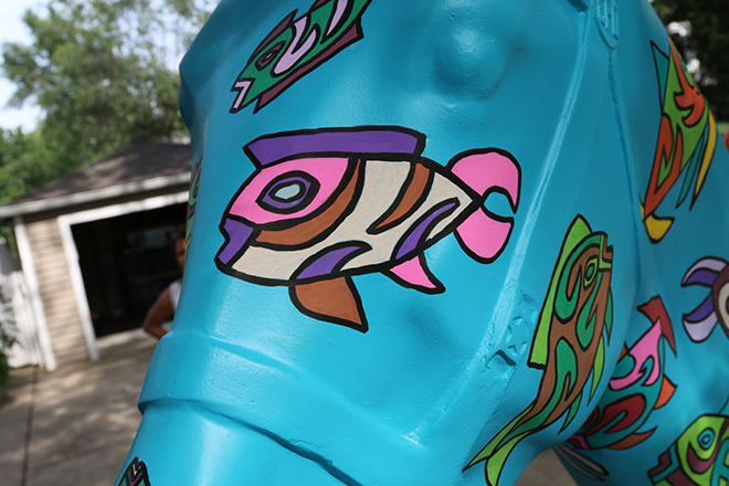 Tony Passero Horses of Honor Sea Horse Fish 5 Detail
