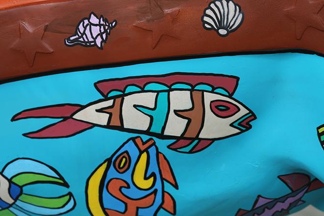 Tony Passero Horses of Honor Sea Horse Fish 12 Detail