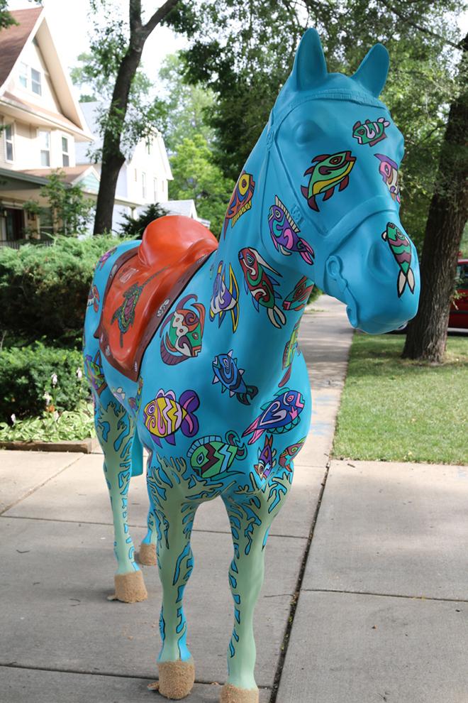 Tony Passero Horses of Honor Sea Horse Front View