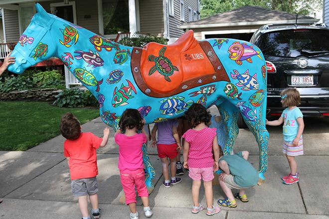 Tony Passero Horses of Honor Sea Horse Kids Detail