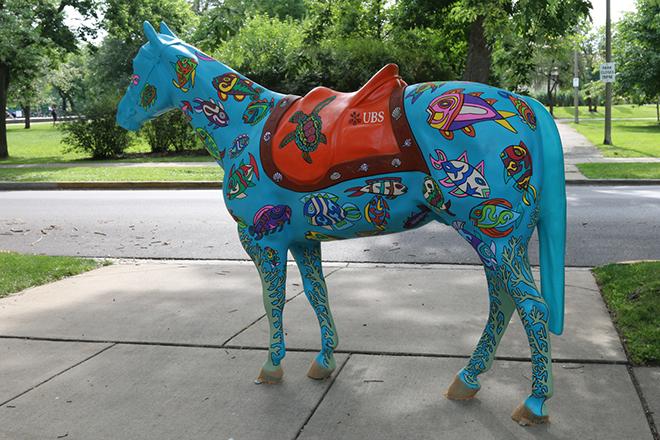 Tony Passero Horses of Honor Sea Horse Left Side