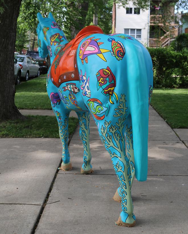 Tony Passero Horses of Honor Sea Horse Rear View