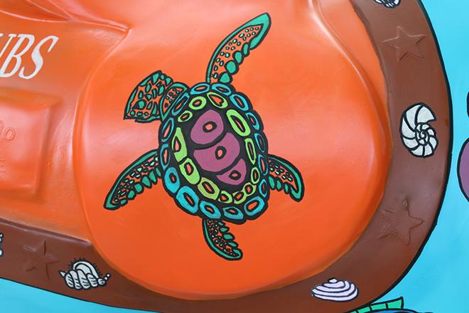 Tony Passero Horses of Honor Sea Horse Saddleback Tortoise Detail