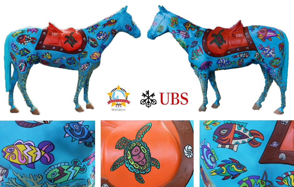 Tony Passero Public Works Horses of Honor Sea Horse Detail