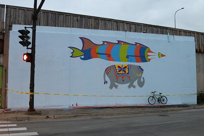Tony Passero Jumbo Jet Mural End of Day View 1