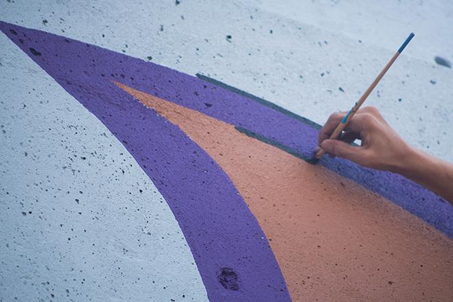 Tony Passero Jumbo Jet Mural Jerry Painting Closeup