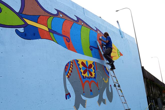 Tony Passero Jumbo Jet Mural Jerry Up High