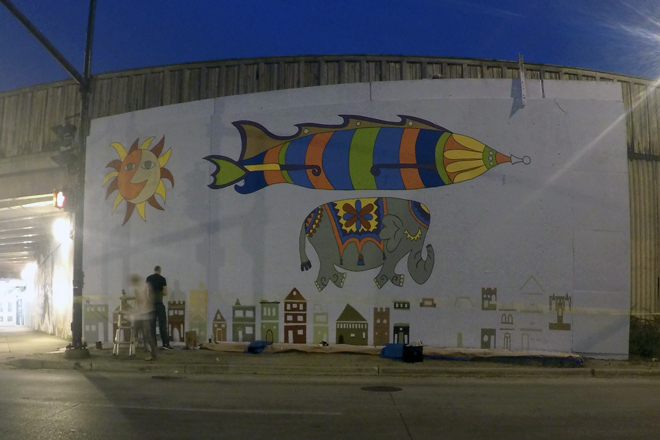 Tony Passero Jumbo Jet Mural Day 4 End of Day