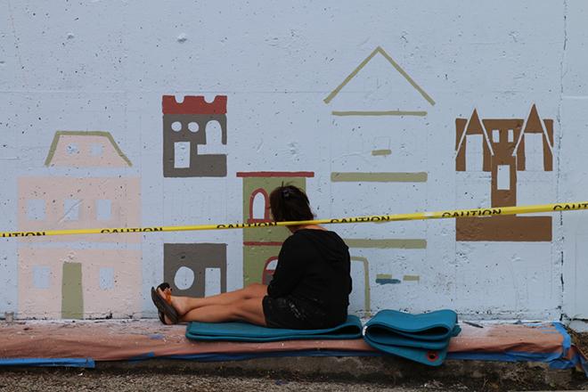 Tony Passero Jumbo Jet Mural Day 4 Shannon Painting