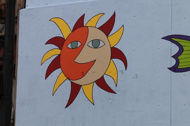 Tony Passero Jumbo Jet Mural Day 4 Sun Closeup