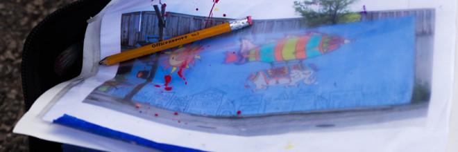 Jumbo Jet Mural Day 3