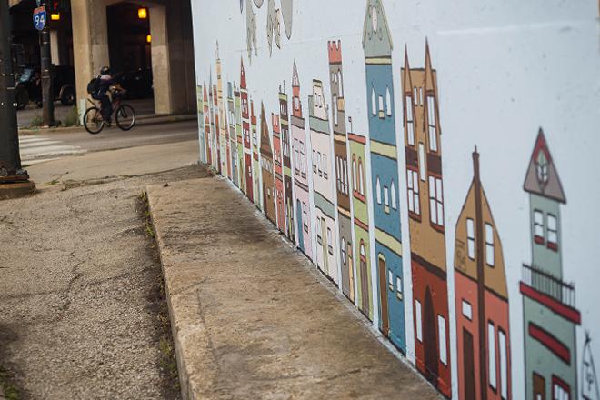 Tony Passero Jumbo Jet Mural Day 5 Building Detail