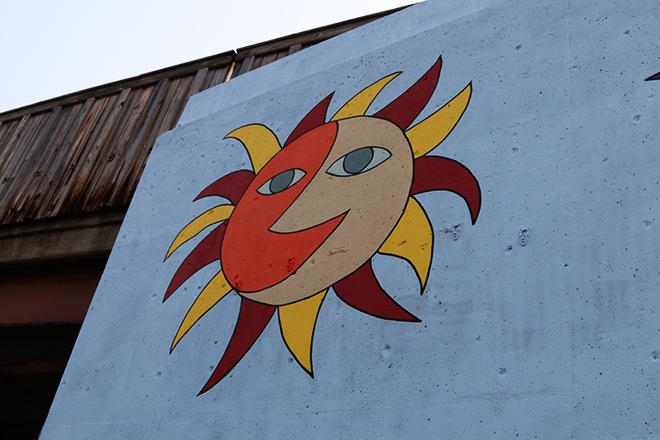 Tony Passero Jumbo Jet Mural Day 5 Moon-Sun Closeup