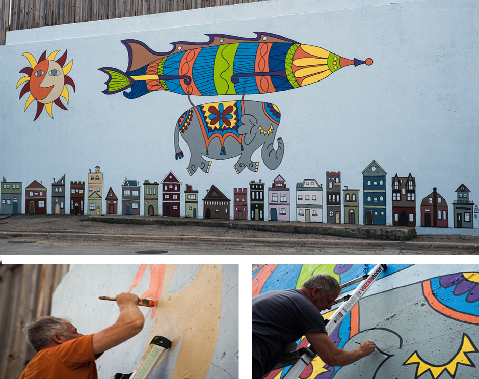 Tony Passero Jumbo Jet Mural Detail
