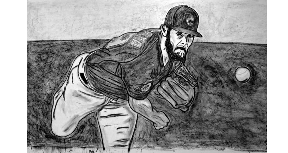 Tony Passero Cubs Series Jake Arrieta Detail