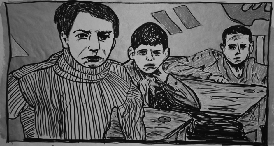 Tony Passero Painting Movie Still Series The 400 Blows Detail