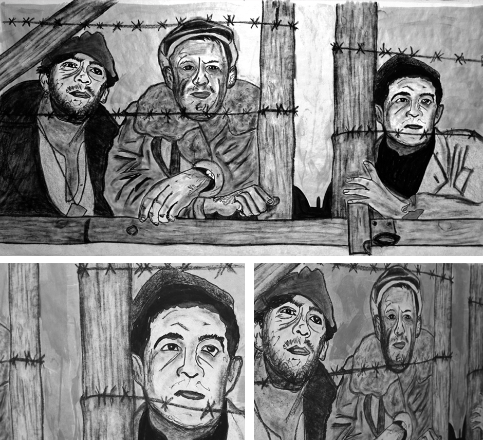 Tony Passero Painting Movie Still Series Stalag 17 Detail