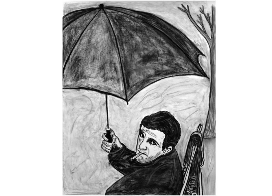 Tony Passero Painting  Director Series Francois Truffaut Detail