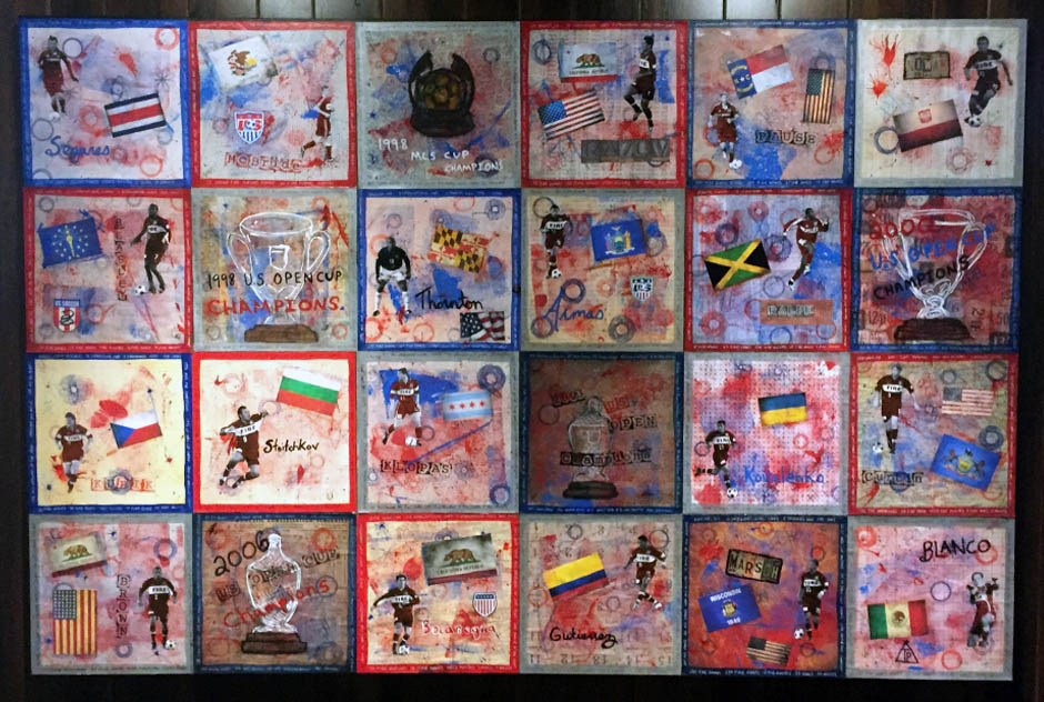 Tony Passero Painting Fire Panels Grid