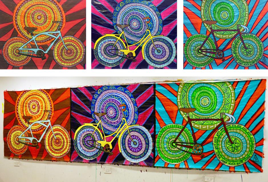 Tony Passero Painting Spin Cycles Detail
