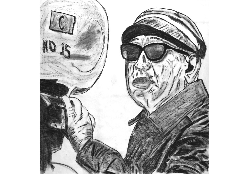 Tony Passero Drawing Director Series Akira Kurosawa Detail