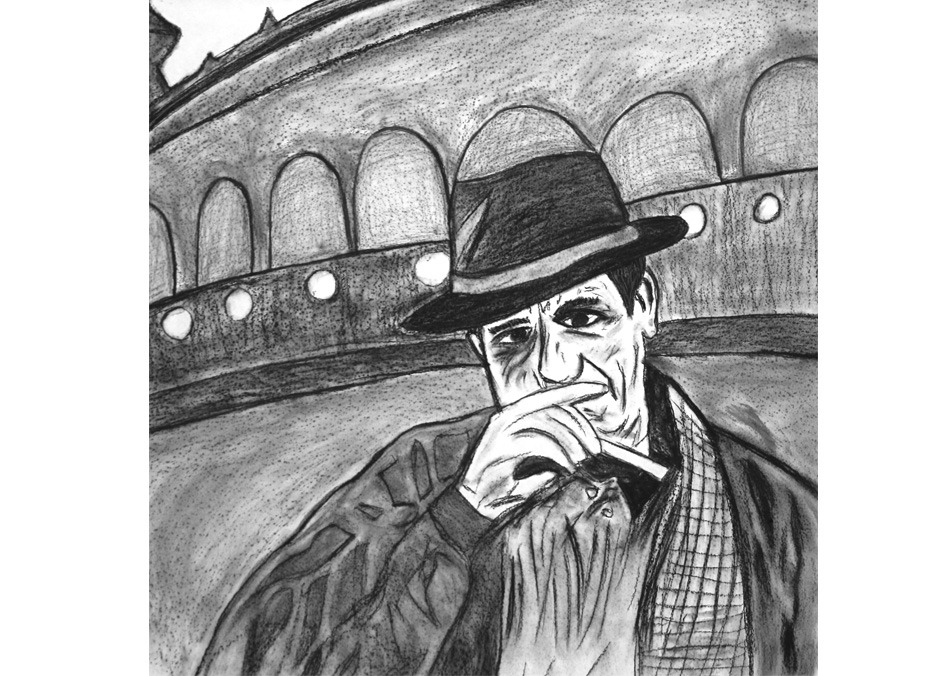 Tony Passero Drawing Director Series Bernardo Bertolucci Grid