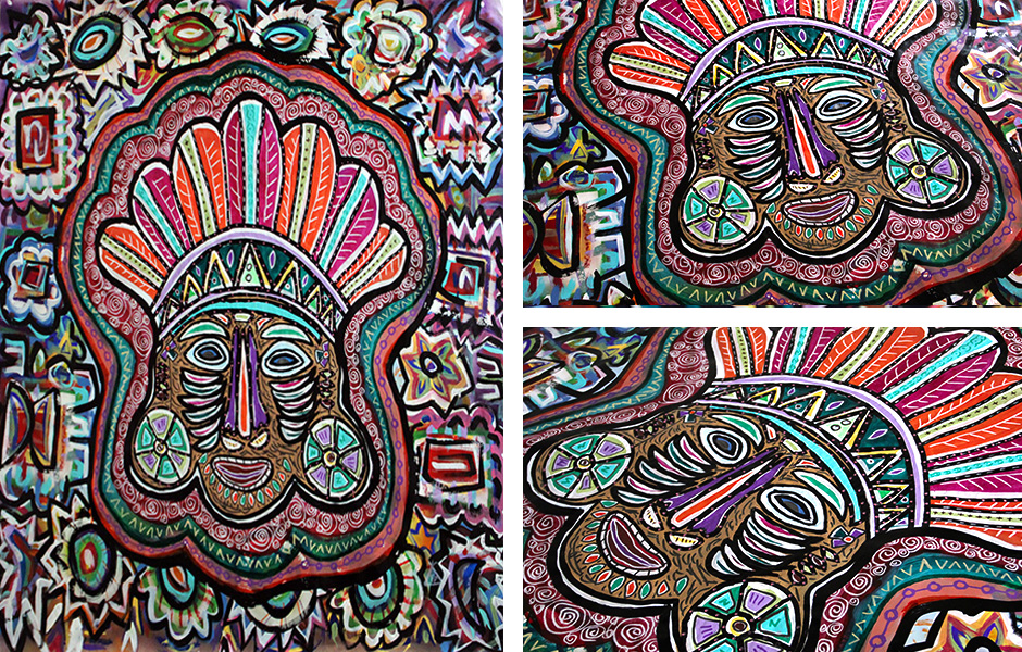 Tony Passero Painting Dust Mask Detail