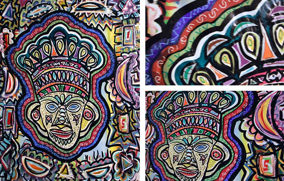 Tony Passero Painting Mud Mask Detail