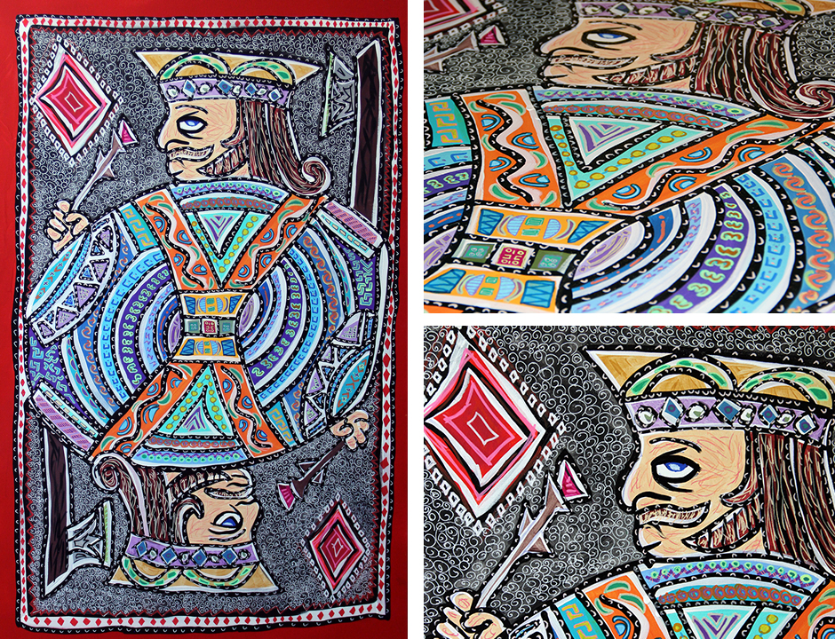 Tony Passero Painting Card Series Jack of Diamonds Detail