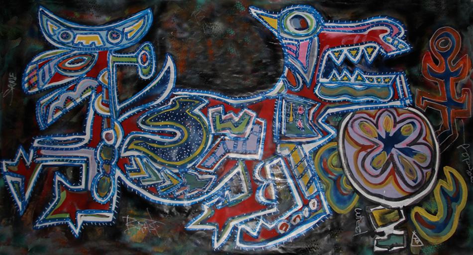 Tony Passero Painting Same Body Same Beast Detail