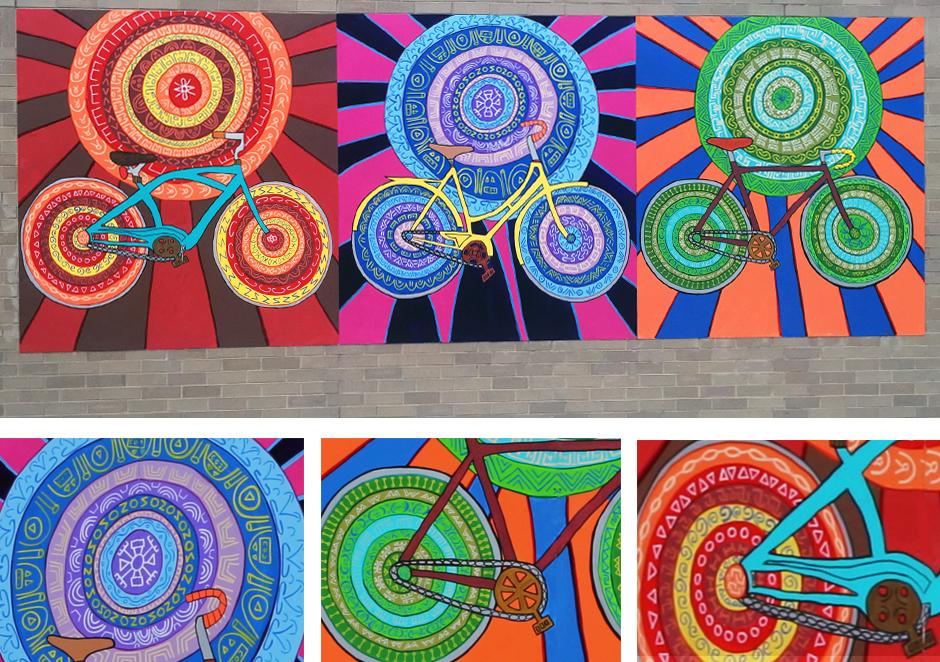 Tony Passero Spin Cycles Mural  Detail