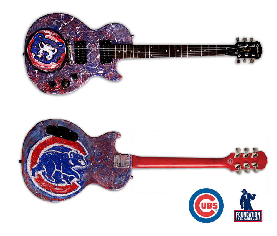 Tony Passero Chicago Cubs Guitar Detail