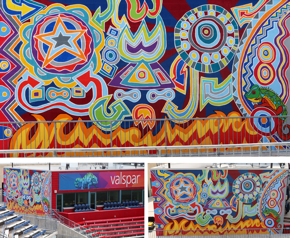 Tony Passero Chicago Fire Toyota Park Offense Mural Detail