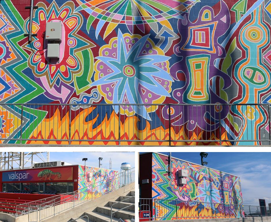 Tony Passero Chicago Fire Defense Mural Detail
