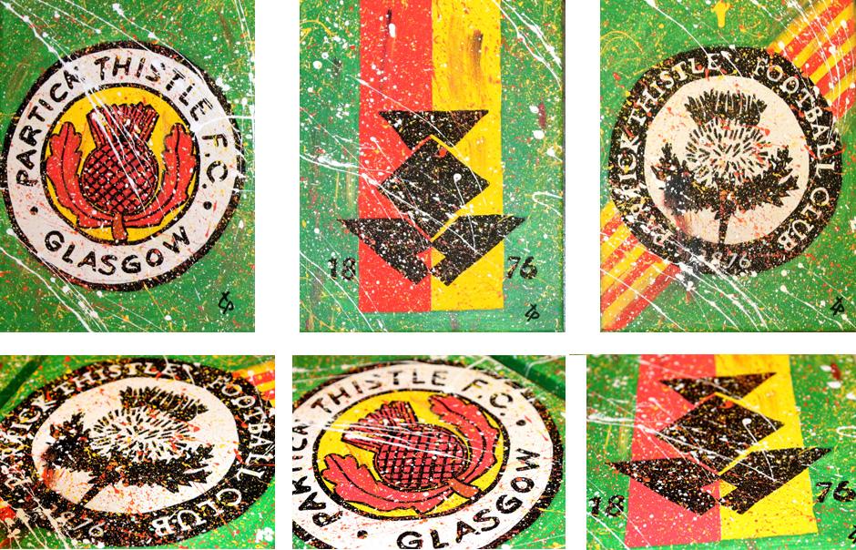 Tony Passero Partick Thistle Football Club Logo Detail