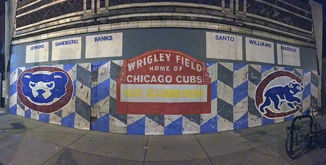 Tony Passero Chicago Cubs Mural Day 3 End of Day