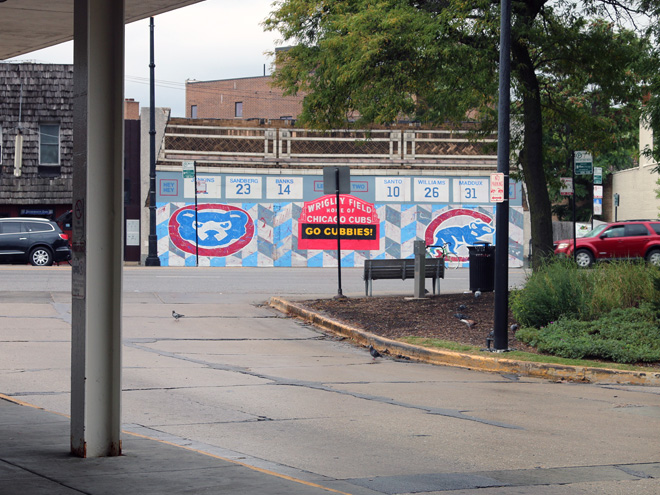 Tony Passero Chicago Cubs Mural Day 4 View from Terminal