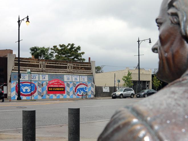 Tony Passero Chicago Cubs Mural Day 4 Thomas Jefferson's View