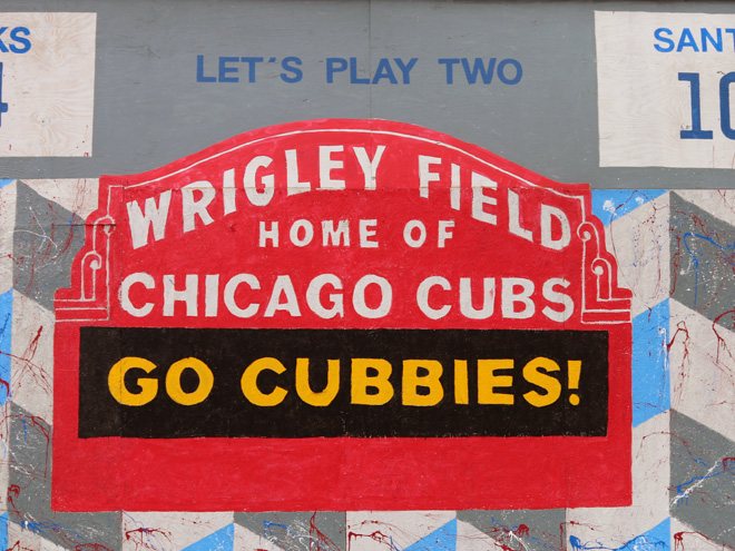 Tony Passero Chicago Cubs Mural Day 4 Marquee Detail