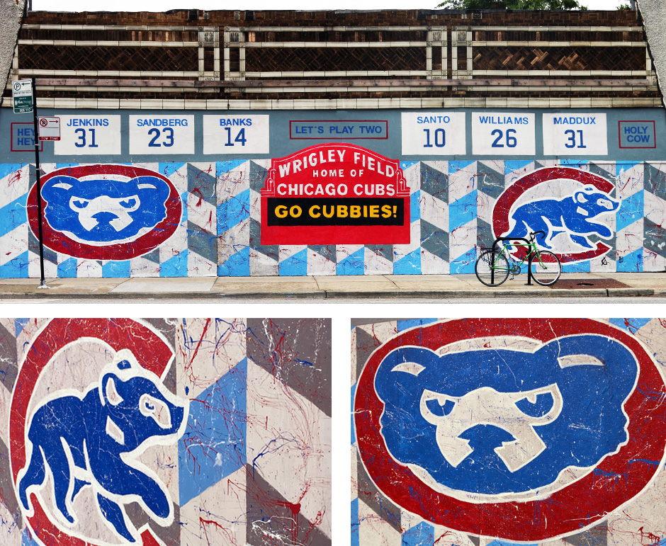 Tony Passero Chicago Cubs Mural Day Detail