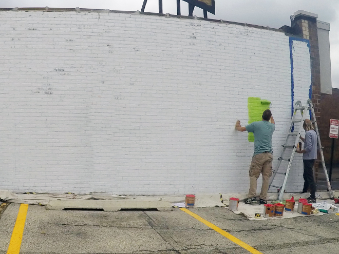Tony Passero JagLeo Mural Day 1 First Color