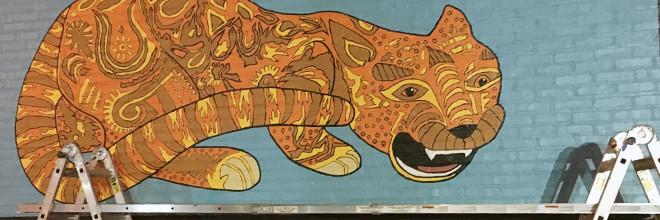JagLeo Mural Day 6