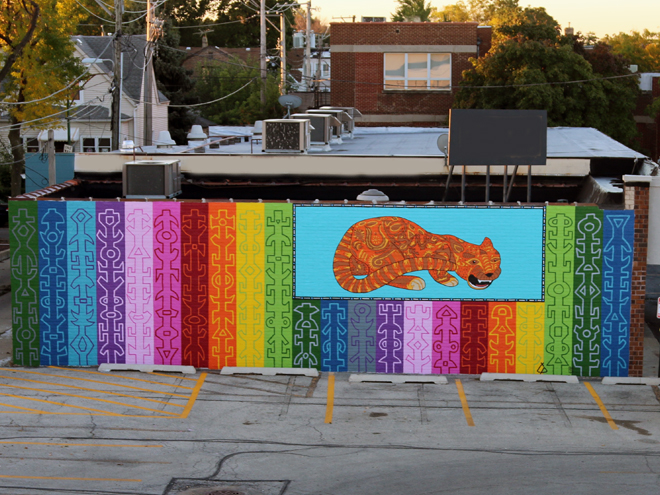 Tony Passero JagLeo Mural Roof Top View