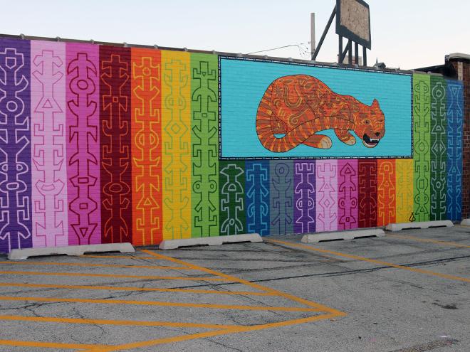 Tony Passero JagLeo Mural  Angle View