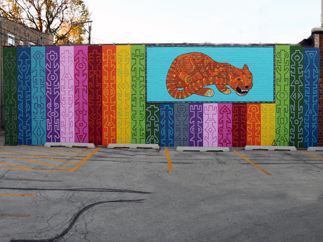 Tony Passero JagLeo Mural Lot View