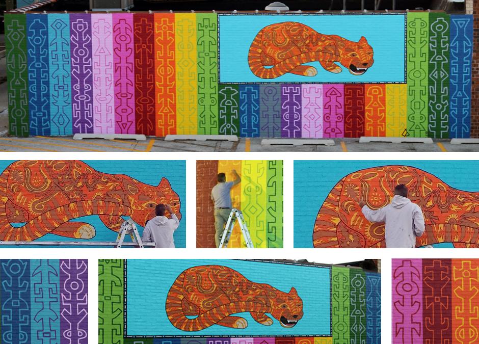 Tony Passero JagLeo Mural Detail