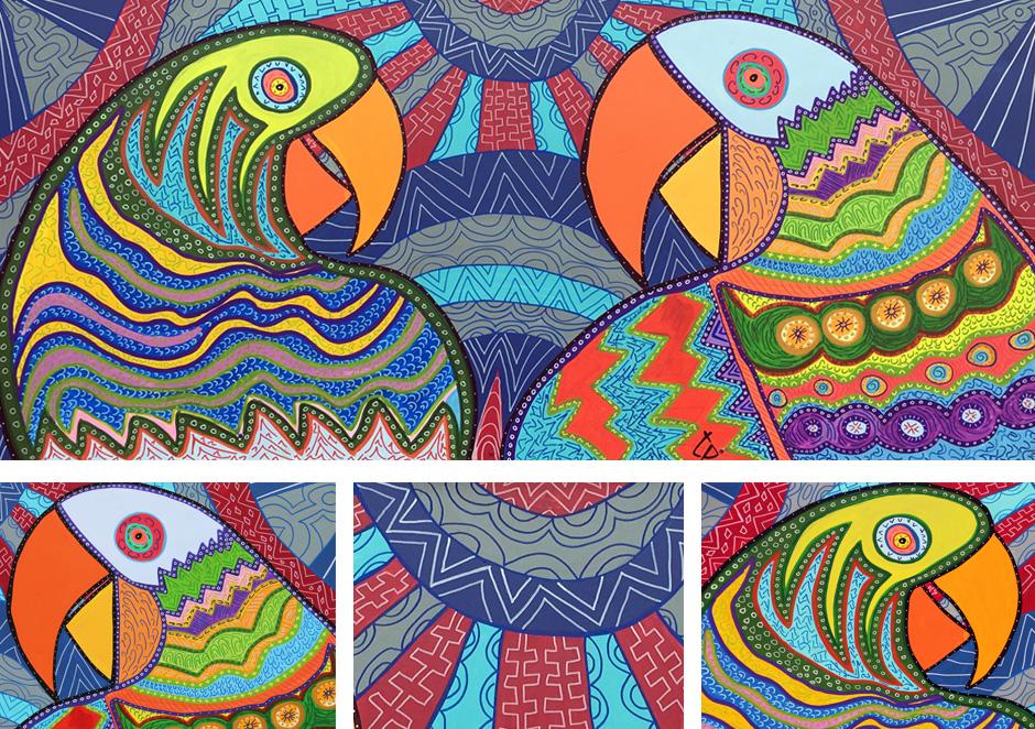 Tony Passero PAiRROTS Mural Detail
