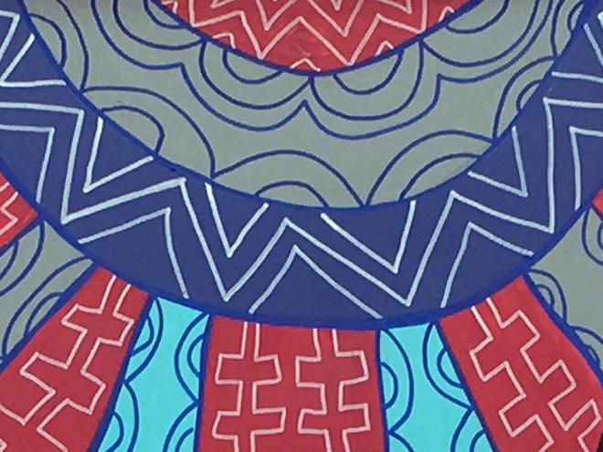 Tony Passero PAiRROTS Mural background detail